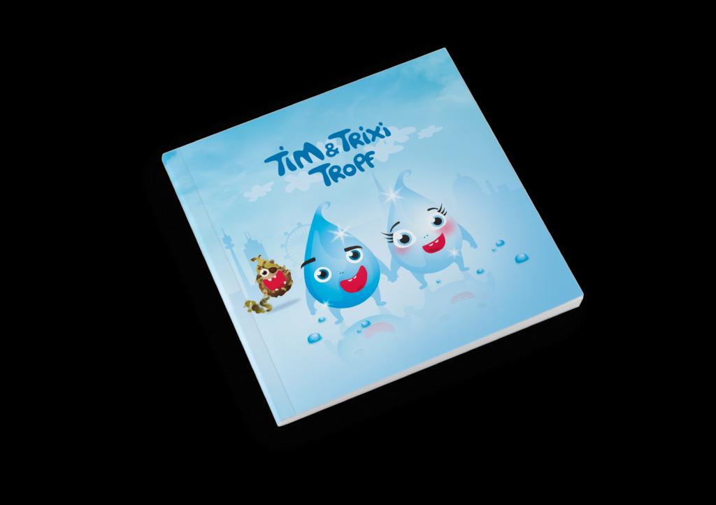 Cover des Kinderbuchs mit dem Titel Tim und Trixi Tropf